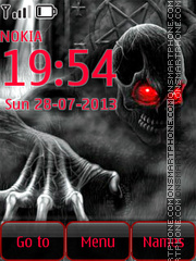 Skeleton with red Eyes Theme-Screenshot